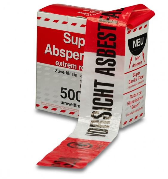 Asbest- Absperrband, rot-weiß, 6707