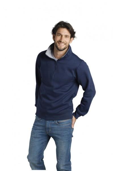 Zip-Sweatshirts SCOTT Mischgewebe marine