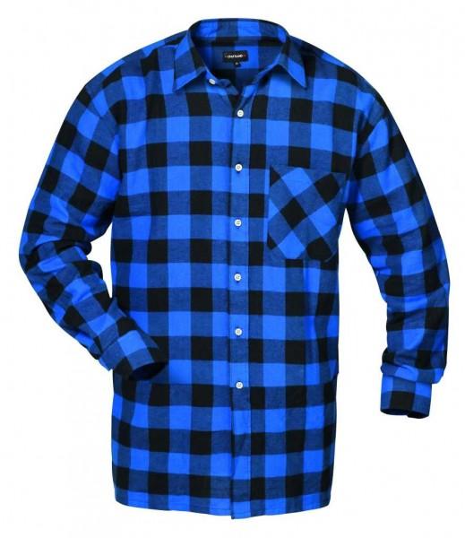 Flanellhemd MICHIGAN blau/schwarz-karier