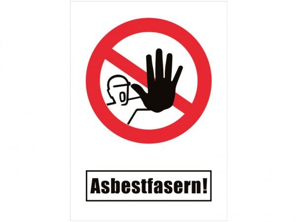 Asbest- Warntafel mit Aufdruck 1729
