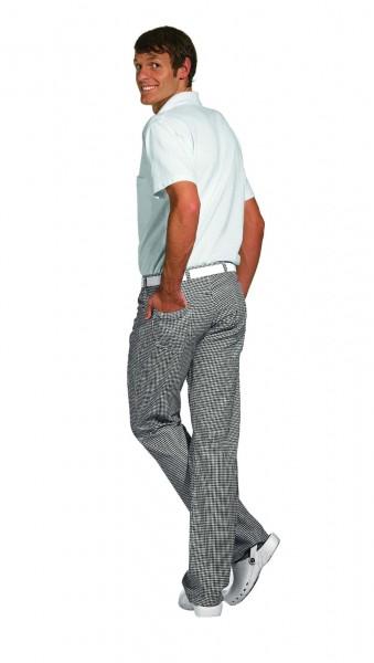 Kochhose Jeans-Form weiß-schwarz 12/1380