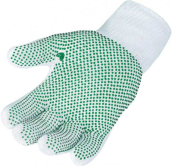 Feinstrickhandschuh grüne Punkte 3686