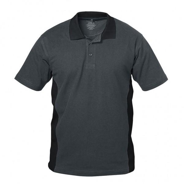 Polo-Arbeits- Shirt GRANADA gau/schwarz