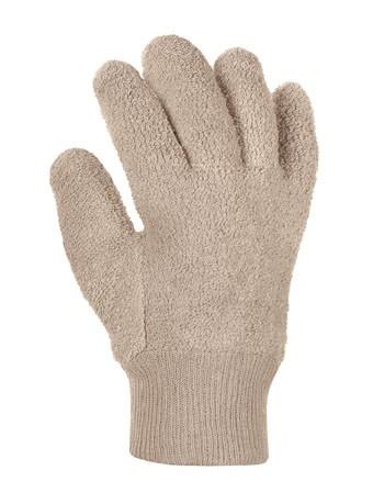 Baumwoll- Schlingenhandschuhe beige