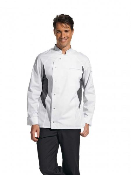 moderne weiße Kochjacke 12_2441